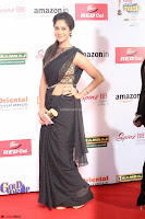 Sindhu looks fabulous in Black Saree designer choli at Mirchi Music Awards South 2017 ~  Exclusive Celebrities Galleries 044.JPG