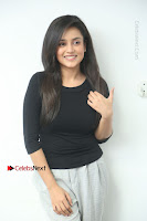 Telugu Actress Mishti Chakraborty Latest Pos in Black Top at Smile Pictures Production No 1 Movie Opening  0044.JPG