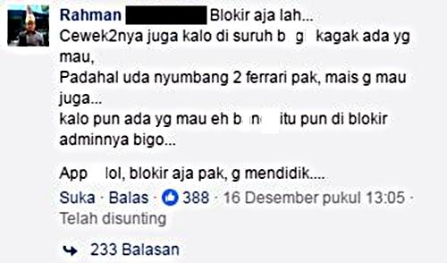 Bigo Live Diblokir, Reaksi Netizen Asli Lucu...