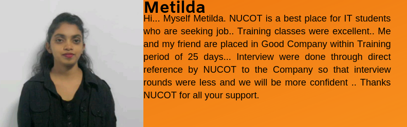 Metilda got placed as an IT Support