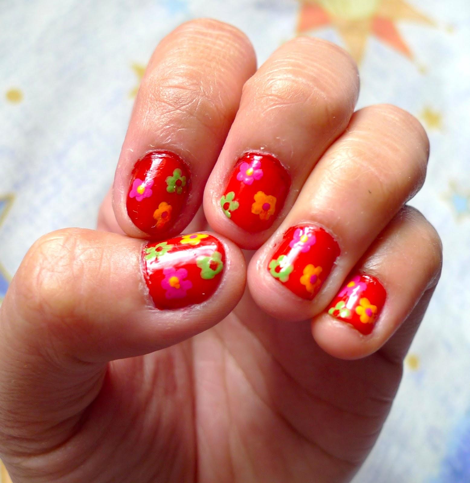 Nail Art Tutorials: Nail Art Tutorial: Easy Flower Bouquet Nails For Valentine