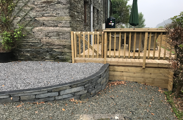 Deck and stone work