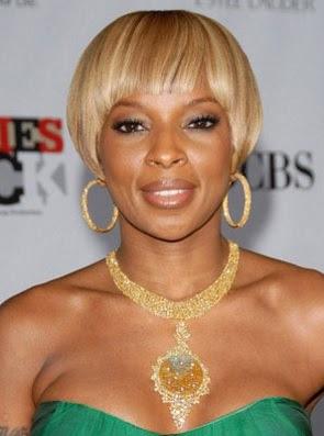 gaya rambut wanita pendek pirang  2007