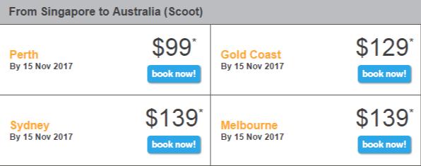 giá vé khuyến mãi Tiger Flash ưu đãi bay từ Singapore đến Úc