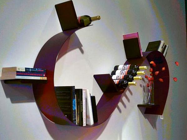 Kumpulan Gambar Rak Buku Dinding Minimalis Kreatif Dan Modern - Rak Buku Minimalis Berbentuk Kurva