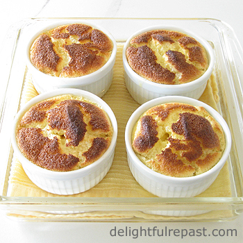 Magical Meyer Lemon Pudding Cakes / www.delightfulrepast.com