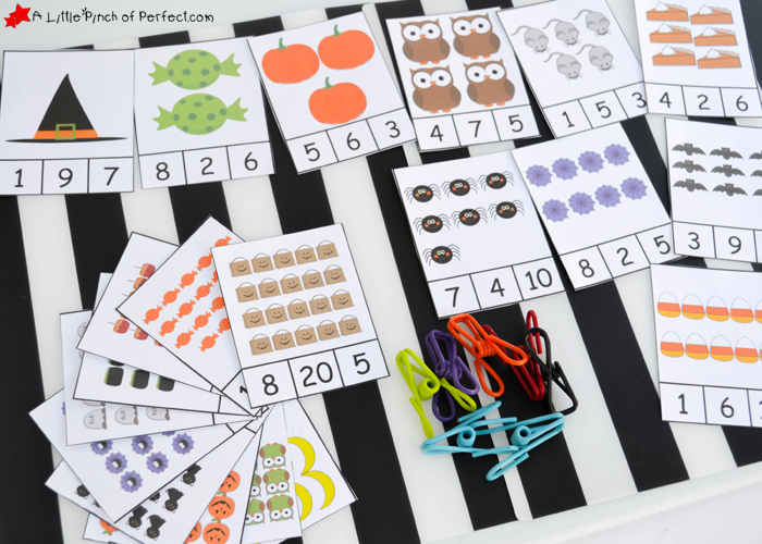 graphic about Printable Number Cards 1-20 referred to as No cost Printable Halloween Clip Playing cards: Counting 1-20 -
