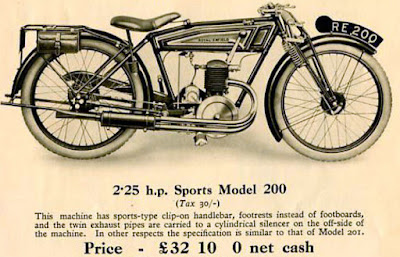 Illustration of a Royal Enfield Sports Model of 1927.