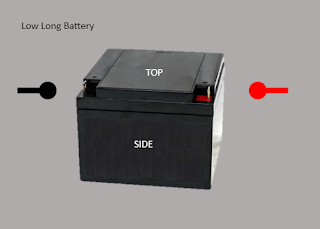 alternate configuration with upright short battery