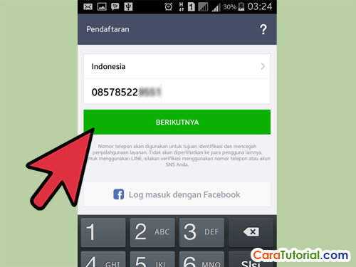 Verifikasi Nomor Telepon LINE