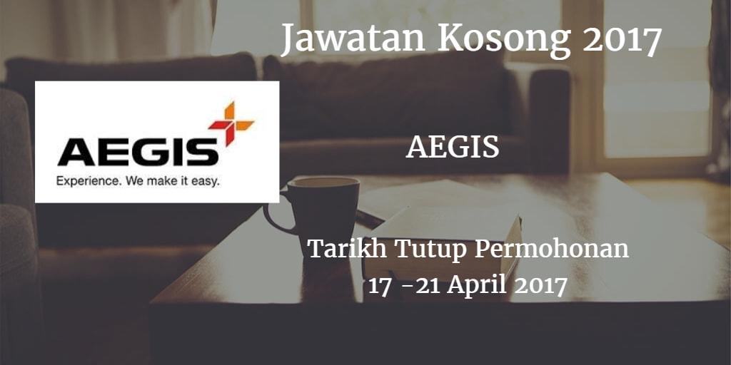 Jawatan Kosong AEGIS 17 - 21 April 2017