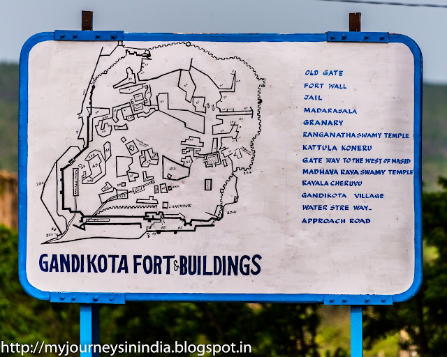 Gandikota Grand Canyon of India Information board