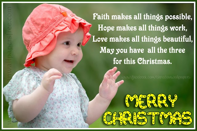 Merry Christmas HD Baby Greetings Card