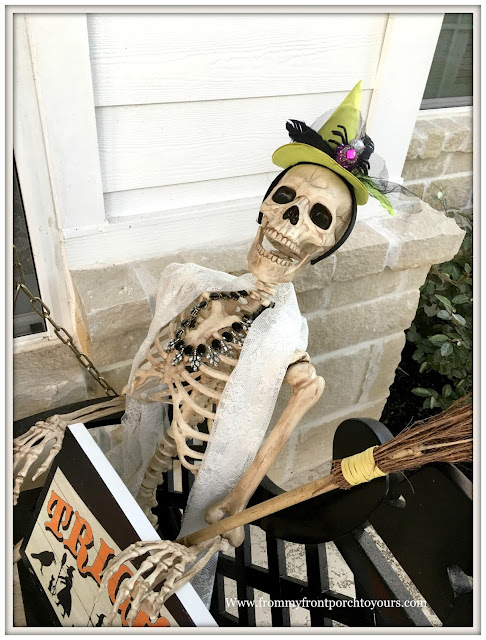 Halloween-Decorations-Front Porch Skeleton-From My Front Porch To Yours