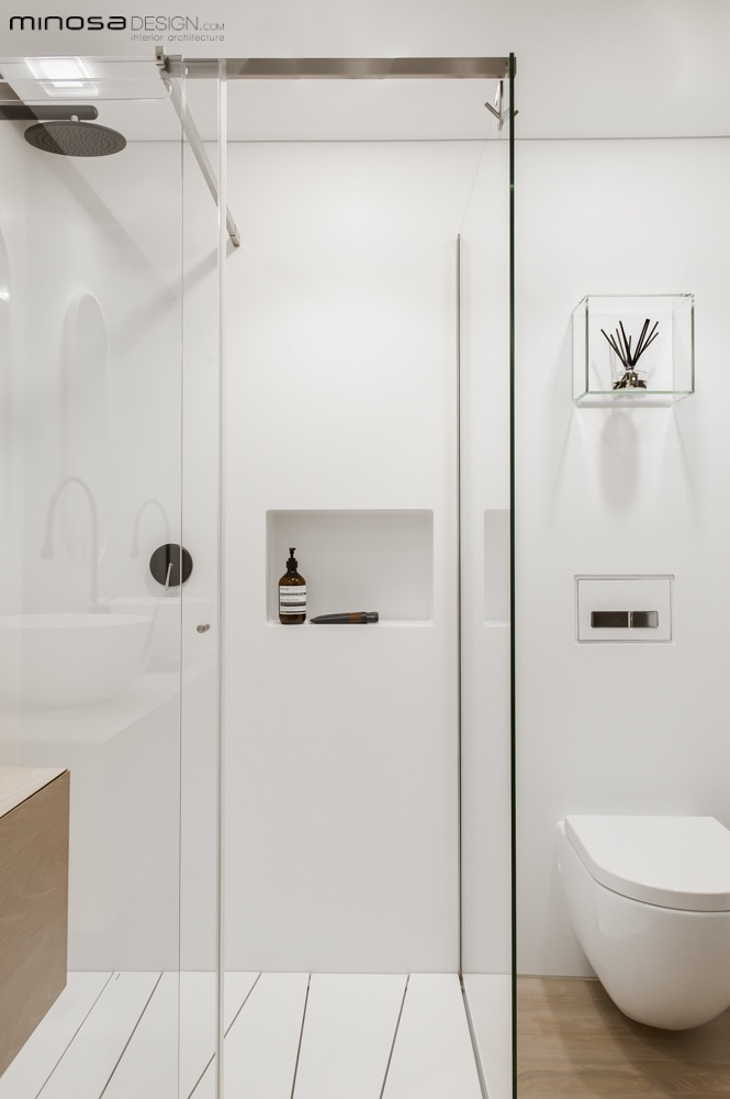 Minosa: Clean, Simple lines. Slick bathroom design by Minosa