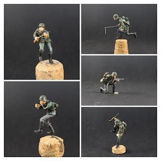 Figurine de l'armée allemande Tamiya au 1/35.