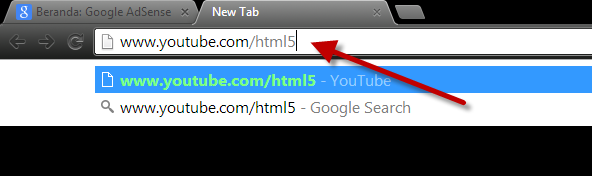 Menggunakan Youtube HTML5