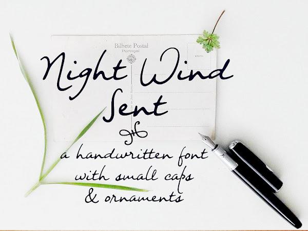 Night Wind Sent Handwritten Script Font Free Download