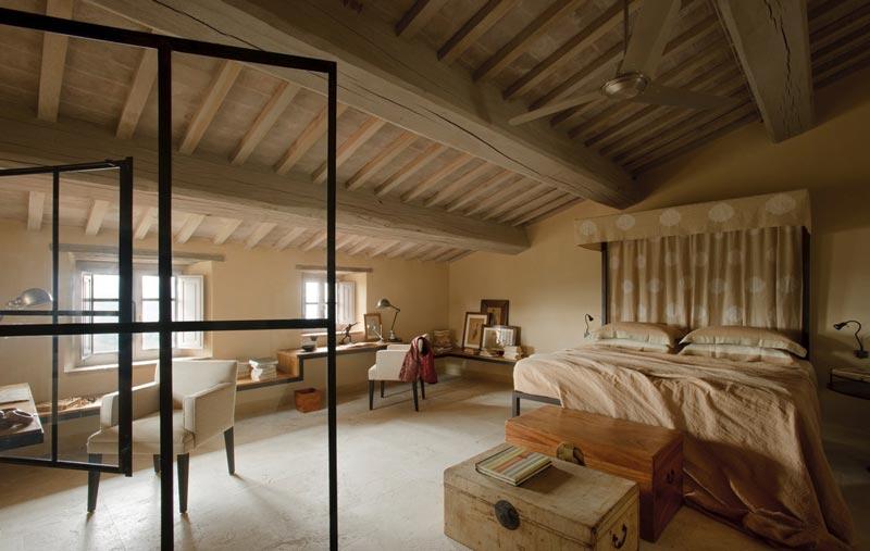 camera da letto country casa di campagna