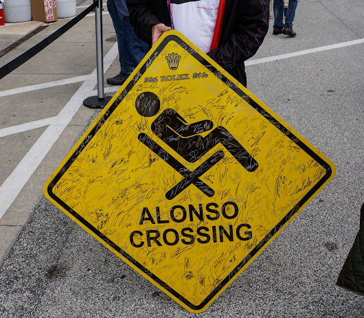 Fernando Alonso Crossing At The Rolex 24 Hour Race