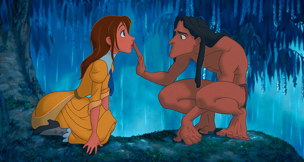 Tarzan and Jane in Disney's Tarzan