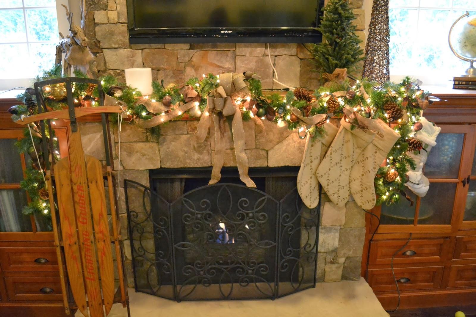 Christmas Garland Mantle Mantel Natural Decorating