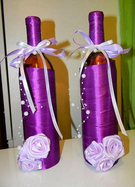 Cudowna Mała pracownia weroniki: Dekoracja butelek wina TU52
