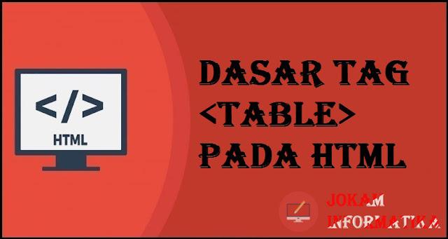 Dasar Atribut Tagging table Pada Bahasa Pemrograman HTML - JOKAM INFORMATIKA