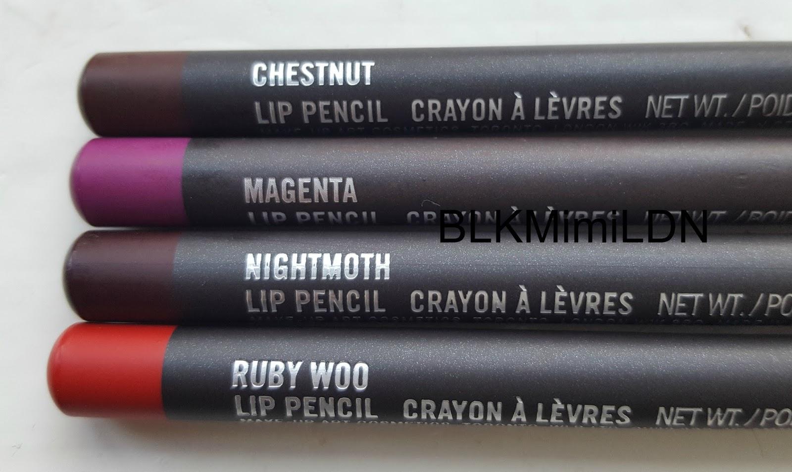 Blkmimildn Mac Lip Pencils - Swatched On Dark Skin -1352