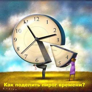 Как распределить время на задачи в течение дня? Как поделить пирог доступного для работы времени лучше всего?