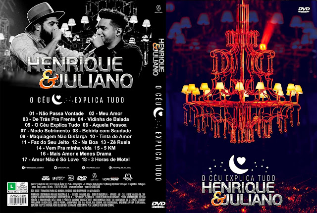 Capa DVD Henrique & Juliano O Céu Explica Tudo [Exclusiva]