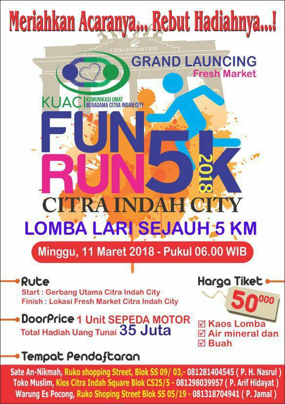 Fresh Market Fun Run Route 2018