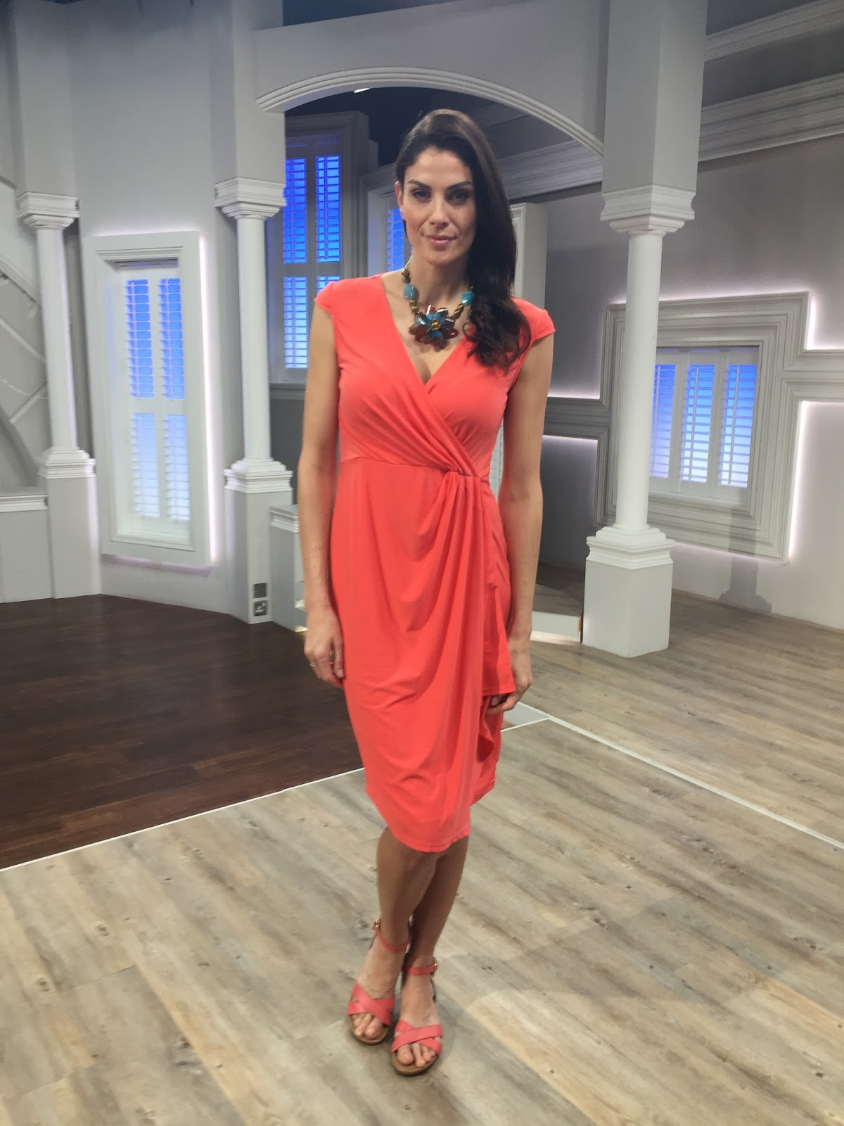 Nv nick verreosqvc uk nv nick verreos spring 2017 show recap spring wrap dress heres one of my newest nv nick verreos qvc uk dresses side draped cascade front faux wrap dress in knit jersey ccuart Gallery