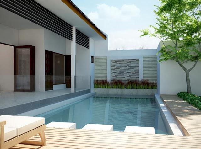 desain rumah minimalis modern dan kolam renang