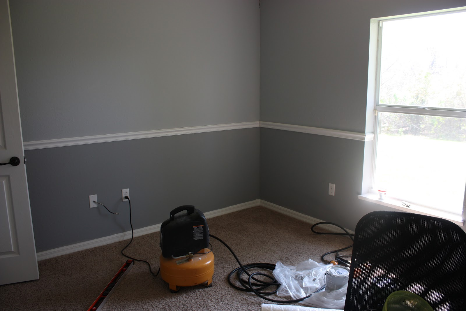 Two Tone Walls With Chair Rail Are We There Yet The Nursery Almost Done