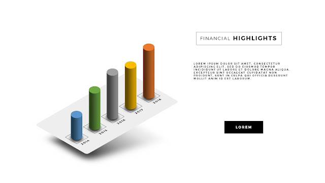 Free PowerPoint Template with Perspective Chart Effect Slide 1