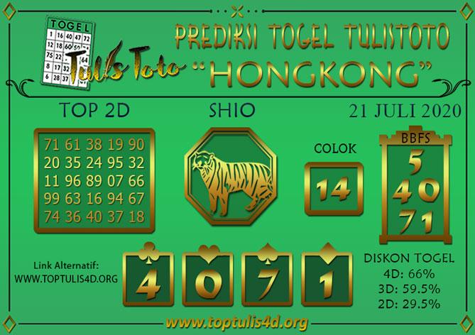 Prediksi Togel HONGKONG TULISTOTO 21 JULI 2020
