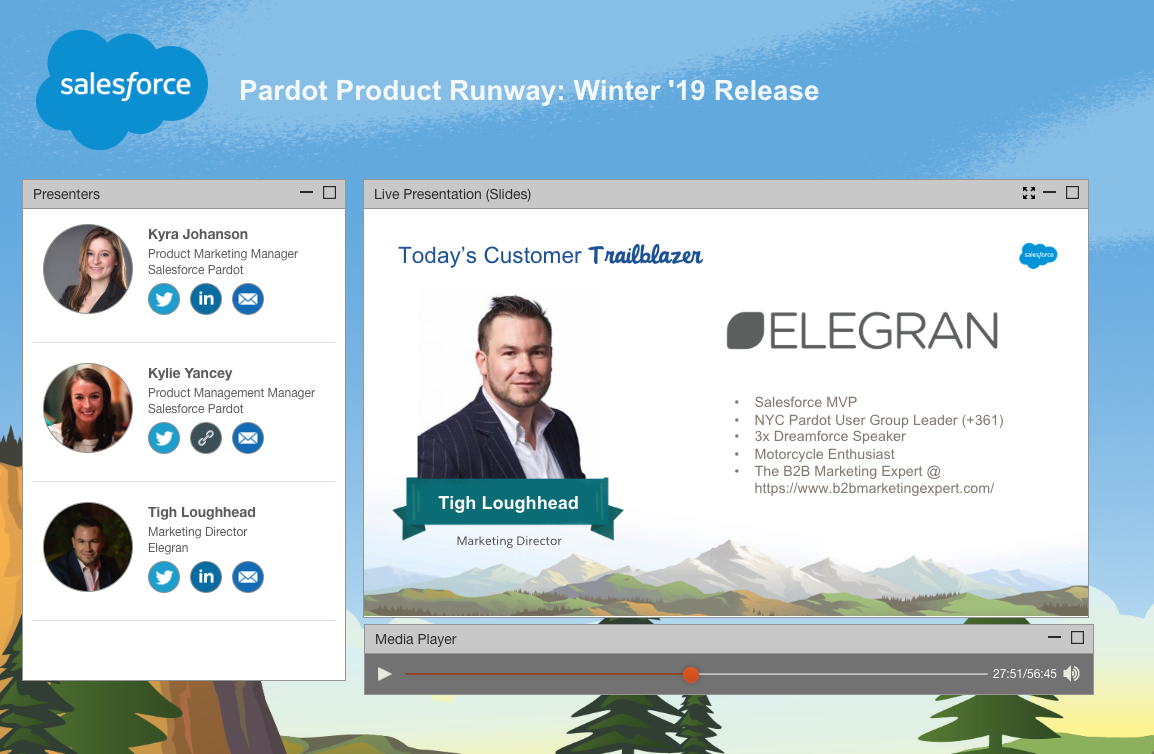 Salesforce MVP Tigh Loughhead talks to Kyra Johanson and Kylie Yancey about the Pardot Product Runway