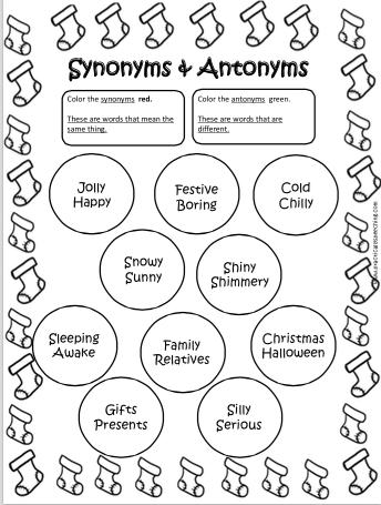 Synonym and Antonym Packet