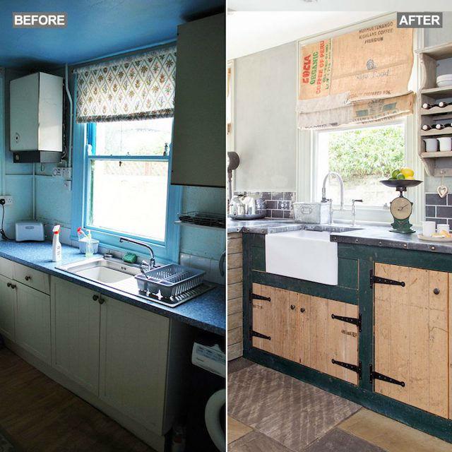 El  sorprendente antes y después de una vieja cocina (por menos de 1000?)