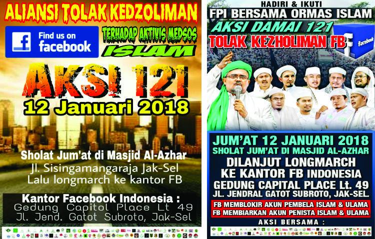 Lawan Kedzaliman Medsos, FPI dan Ormas Islam Akan Demo ke Kantor Facebook