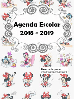 AGENDA ESCOLAR VERSIÓN MINNIE MOUSE