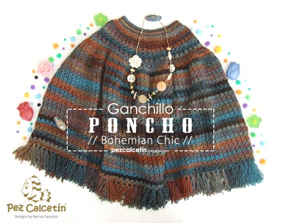 """poncho"" ""boho chic"" ""pez calcetin""  ""lanaterapia"" ""bienestar"" ""lana"" ""ganchillo"" ""crochet"" ""hygge"""