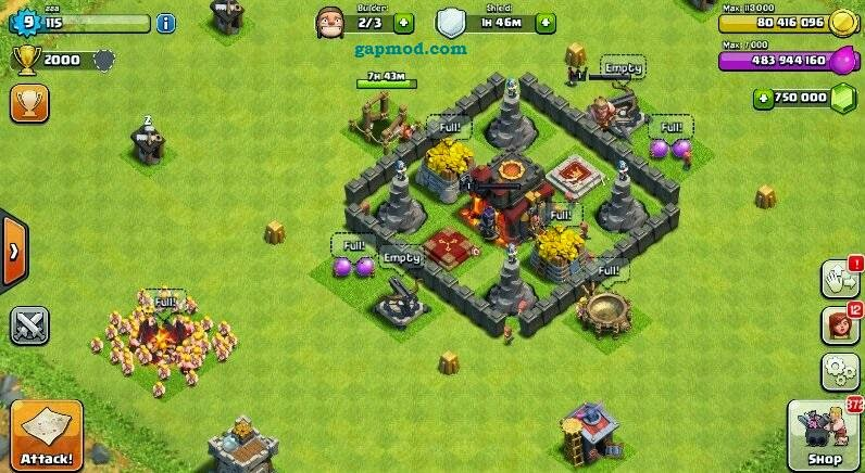 [Update] Download Clash of Clans v7.1.1 Mod Apk Unlimited Gems Gold and Elixir