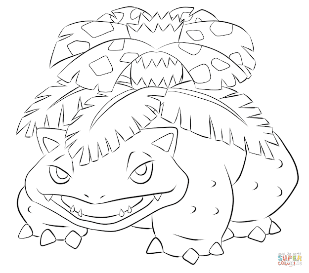 Click The Venusaur Coloring Pages To View Printable Version Or Color It  Online Patible With Ipad And Android Tablets