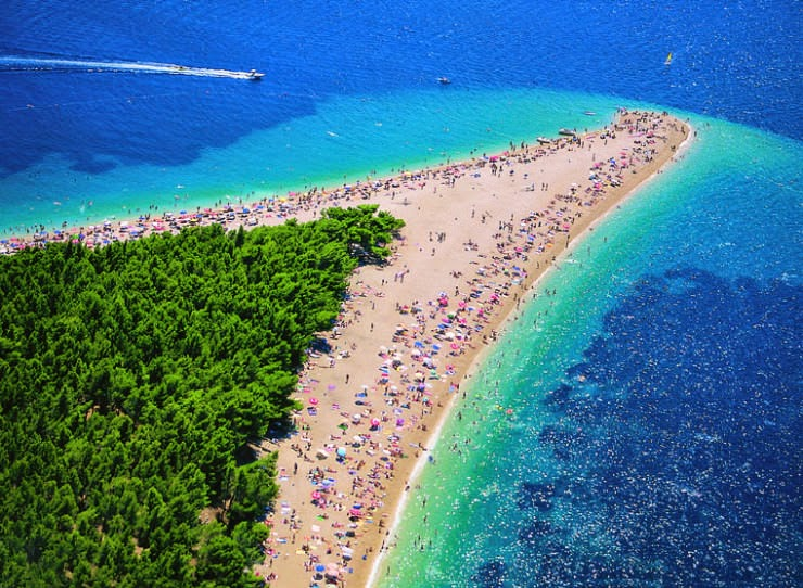 9. Golden Horn (Zlatni Rat), Brac Island, Croatia - Top 10 Unusual Beaches