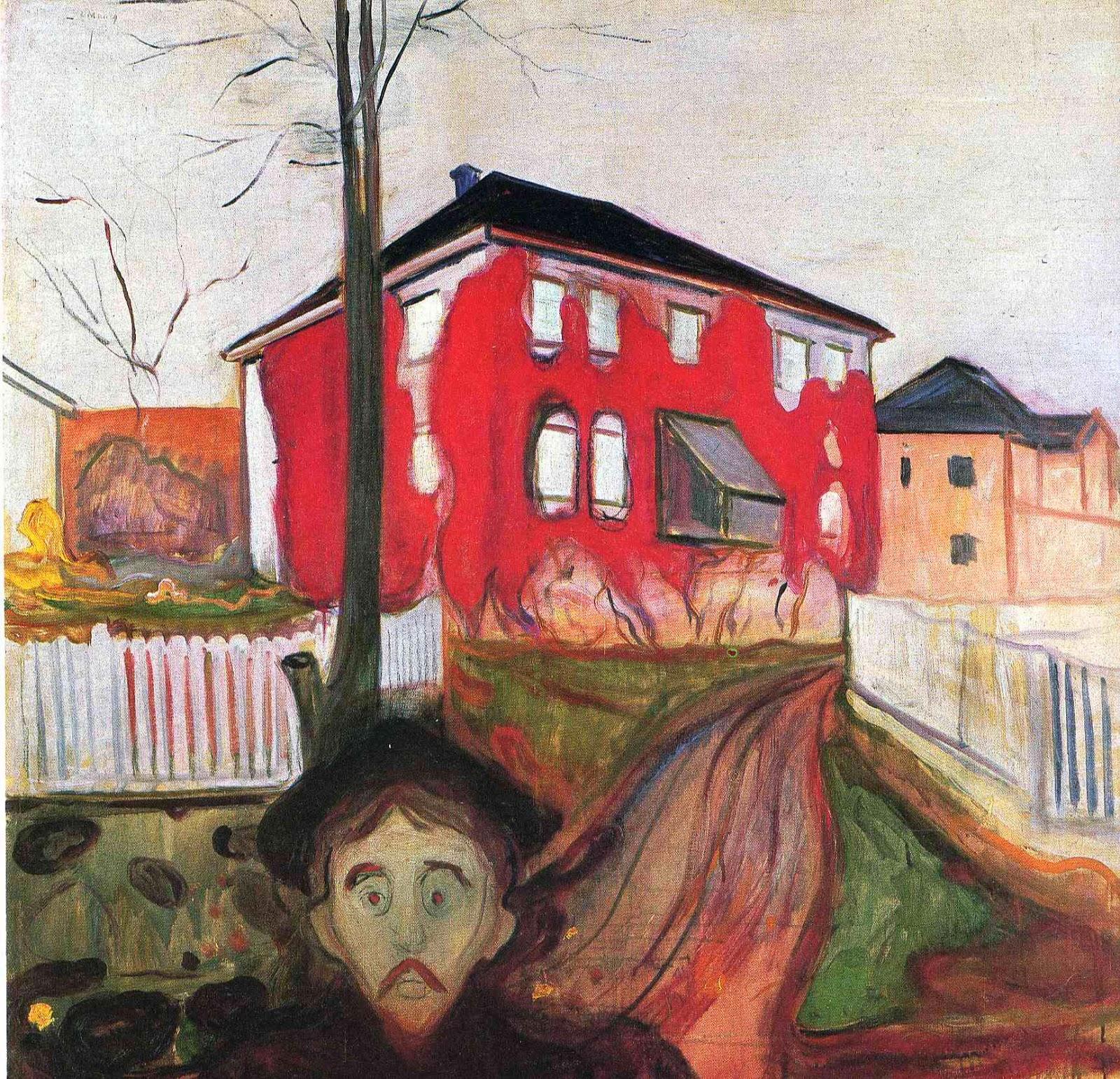 Virgínia Vermelha - Munch, Edvard esuas principais pinturas ~ Um grito de desespero existencial