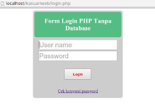 Form login PHP