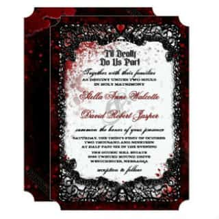 Blood Splattered Wedding Wedding Invitation Love