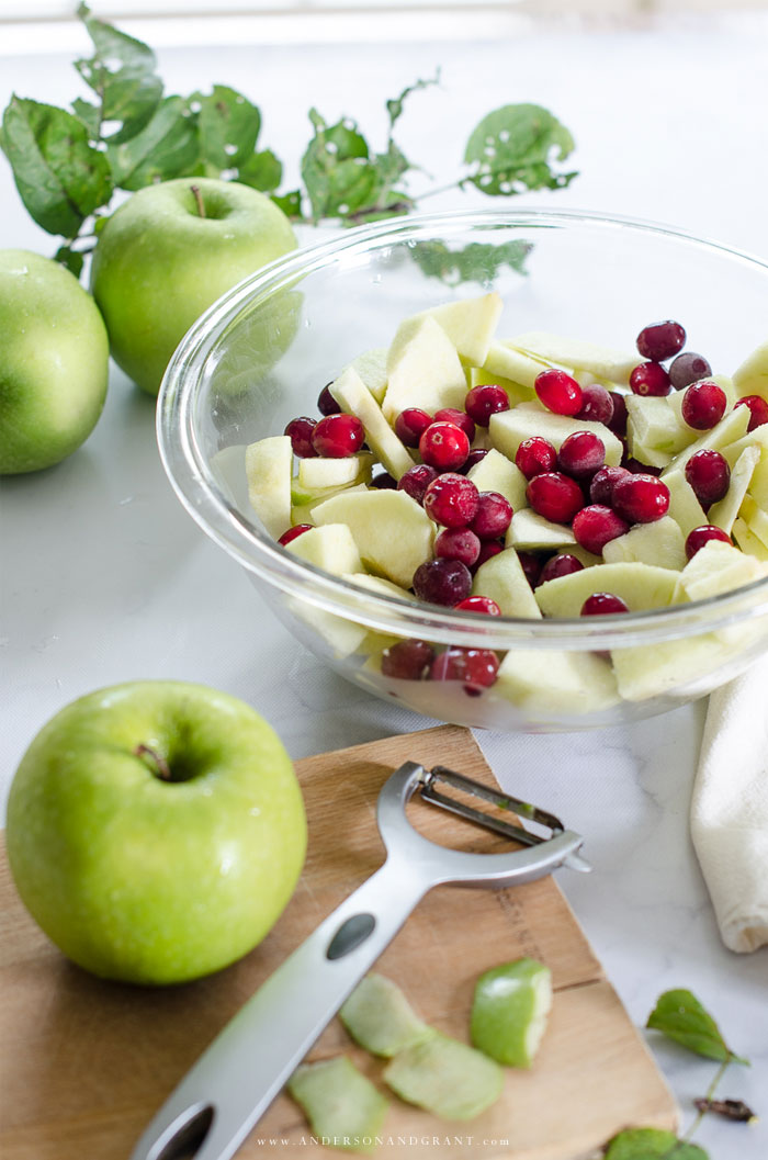 Apple Cranberry Pie Ingredients